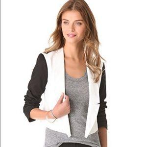 Black & white cropped blazer from BB Dakota